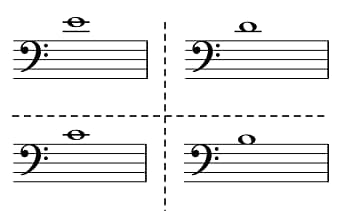 Bass clef notes flashcards.