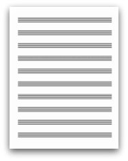 Free Printable Staff Paper for Pianists