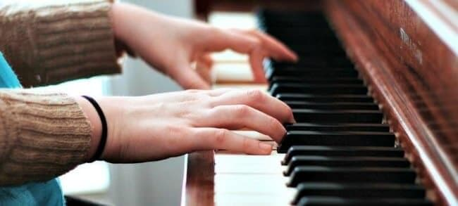 Melodic minor scales charts for piano playing