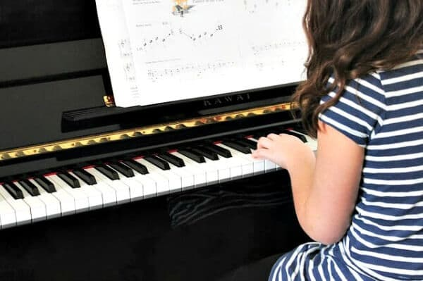 Piano lessons for kids.