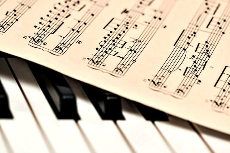 Printable sheet music for piano.